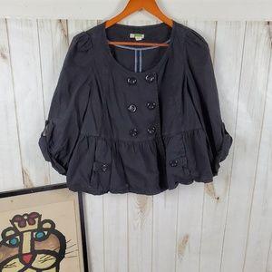 Ett Taia Peplum Lightweight Overcoat Jacket (C1)